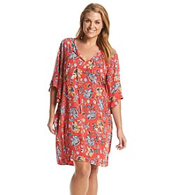 Democracy Plus Size Floral Print Tunic