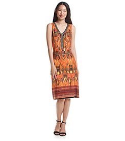 Notations® Sleeveless Embellished V-Neck Dress