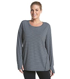 Exertek® Plus Size Seamed Front Striped Tee