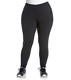 Exertek® Plus Size Solid Ponte Moto Leggings
