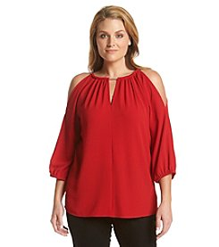 MICHAEL Michael Kors® Plus Size Chain Cold Shoulder Top