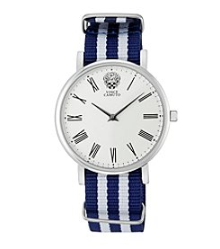 Vince Camuto™ Women's Blue & White Ribbon Strap Watch