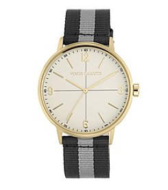 Vince Camuto™ Women's Grey and Black Nylon Strap Watch