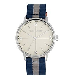 Vince Camuto™ Women's Navy Blue and Grey Nylon Strap Watch