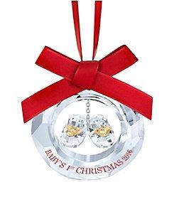 Swarovski® Baby's 1st Christmas Ornament