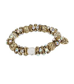 Betsey Johnson® Goldtone Faceted Bead Stretch Bracelet