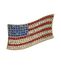 Anne Klein® Goldtone Flag Pin