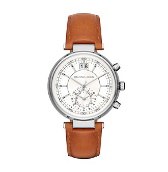 Michael Kors® Sawyer Silvertone Stainless Steel And Ligh