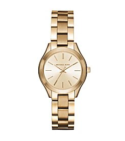 Michael Kors® Mini Slim Runway Goldtone Three-Hand Watch