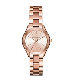 Michael Kors® Mini Slim Runway Rose Goldtone Three-Hand Watch