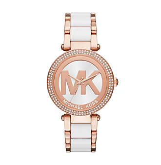 Michael Kors® Parker Rose Goldtone And White Acetate Thr