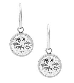 Michael Kors® Silvertone Clear Cubic Zirconia Drop Earrings