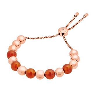 Michael Kors® Rose Goldtone & Carnelian Slider Bracelet