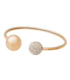 Michael Kors® Goldtone Clear Pave Flex Bracelet