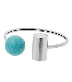 Michael Kors® Silvertone & Turquoise Flex Bracelet