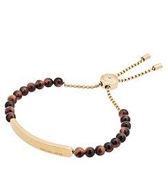 Michael Kors® Goldtone & Tortoise Slider Bracelet