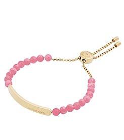 Michael Kors® Goldtone & Pink Slider Bracelet