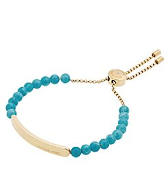 Michael Kors® Goldtone & Blue Slider Bracelet