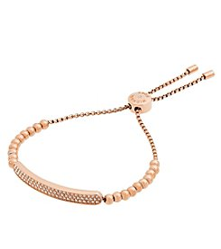 Michael Kors® Rose Goldtone & Clear Pave Slider Bracelet