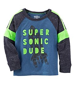 OshKosh B'Gosh® Boys' 2T-7 Long Sleeve Super Sonic Dude Tee