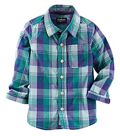 OshKosh B'Gosh® Boys' 2T-7 Long Sleeve Plaid Button Down Shirt