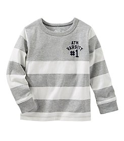 OshKosh B'Gosh® Boys' 2T-7 Long Sleeve Striped Varsity Tee