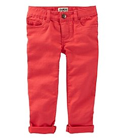 OshKosh B'Gosh® Girls' 2T-6X Twill Roll Cuff Pants