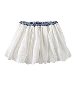 OshKosh B'Gosh® Girls' 2T-6X Eyelet Scallop Skirt