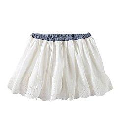OshKosh B'Gosh® Girls' 2T-6X Eyelet Scallop Skirt
