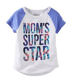 OshKosh B'Gosh® Girls' 2T-4T Short Sleeve Mom's Super Star Tee
