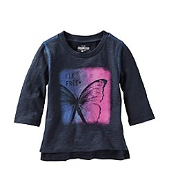 OshKosh B'Gosh® Girls' 2T-6X Long Sleeve Fly Free Tee