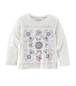 OshKosh B'Gosh® Girls' 2T-6X Long Sleeve Embellished Tee
