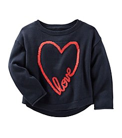 OshKosh B'Gosh® Girls' 2T-6X Long Sleeve Heart Sweater