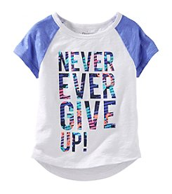 OshKosh B'Gosh® Girls' 4-6X Short Sleeve Never Give Up Tee
