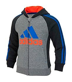 adidas® Boys' 2T-7 Warm Up Full Zip Fleece Jacket