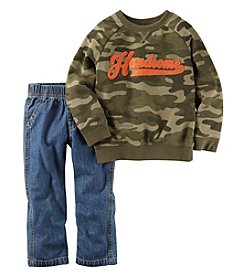 Carter's® Boys' 2T-4T 2-Piece Camo Sweatshirt And Jeans Set