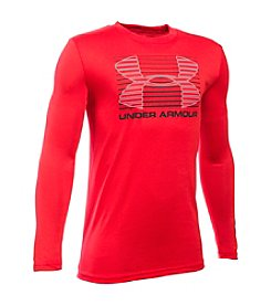 Under Armour® Boys' 8-20 Long Sleeve Break Through Logo Tee