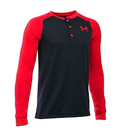 Under Armour® Boys' 8-20 Long Sleeve Waffle Henley