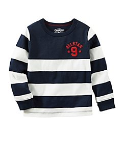 OshKosh B'Gosh® Boys' 2T-7 Long Sleeve Striped All Star Tee