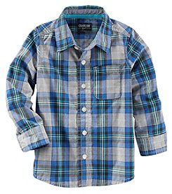 OshKosh B'Gosh® Boys' 4-7 Long Sleeve Plaid Button Down Shirt