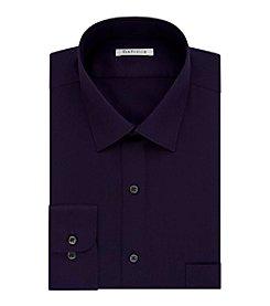 Van Heusen® Men's Regular Fit Purple Long Sleeve Dress Shirt
