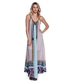 Skylar & Jade™ Printed Maxi Dress With Tassels