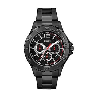 Timex® Men's Taft Street Multifunction Black Stainless S