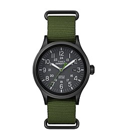 Timex® Men's Expedition Scout Green Nylon Slip-Thru Strap Watch
