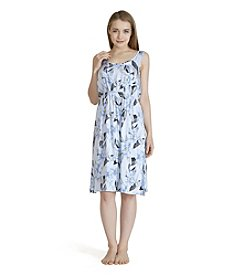 Echo Printed Keyhole Night Gown