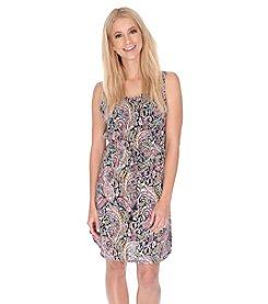 Lucky Brand® Cross Back Paisley Dress