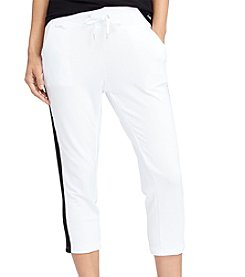 Lauren Active® Side-Stripe Cropped Pants