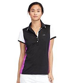 Lauren Active® Color-Blocked Pique Polo Shirt