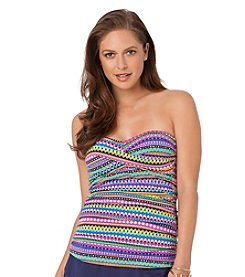 Anne Cole® Desert Diamond Pattern Twist Front Tankini