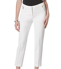 Rafaella® Zip Pocket Ankle Pants